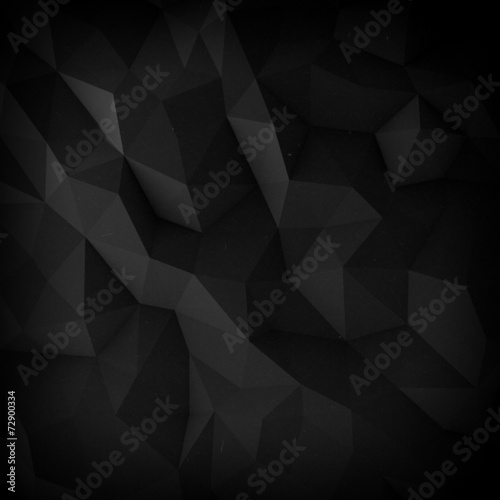 Fotobehang 3d Achtergrond Abstract black faceted paper background