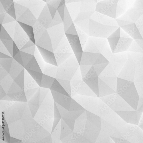 Fotobehang 3d Achtergrond Abstract white triangle 3D geometric paper background