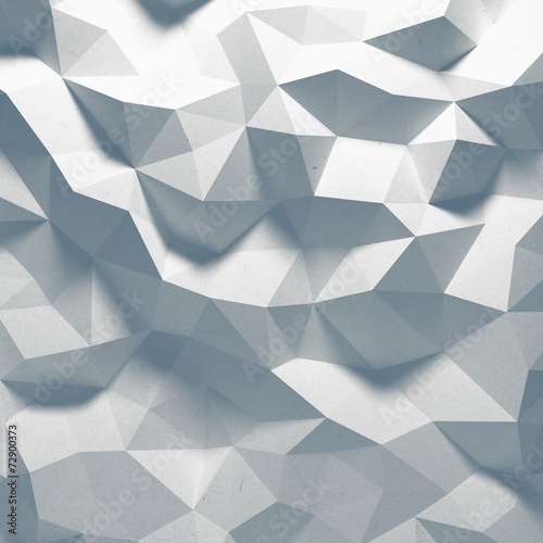 Fotobehang 3d Achtergrond Abstract top lighted geometric paper background