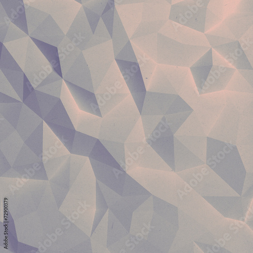 Fotobehang 3d Achtergrond Abstract vintage 3D faceted geometric paper background