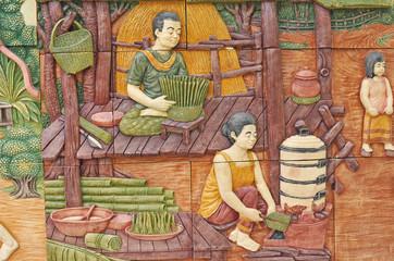 The art on Ceramic