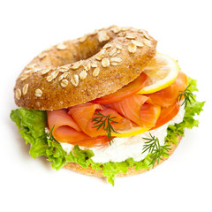 Delicious Smoked Salmon Bagel