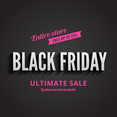 Black Friday Typography Advertising Poster design