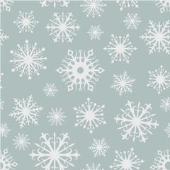 Seamless snowflakes background.