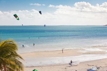 kite-surf sur plage de Mourouk, île Rodrigues