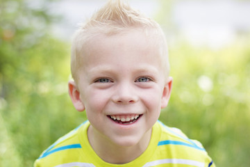 Handsome, smiling Young Boy Portrait
