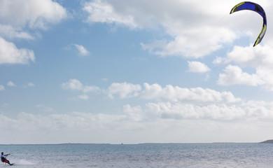 voile de kite-surf, île Rodrigues
