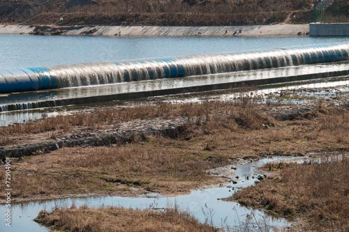 Foto op Canvas Dam rubber dam