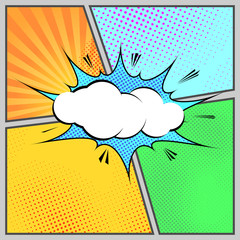 Comic pop-art humorous page style template
