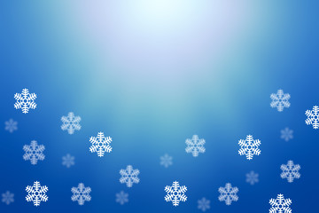 blue and withe background with snowflake