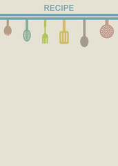 Retro background for cooking recipes 1