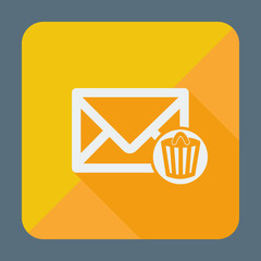 Email icons design. Envelope with trash can.