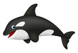 Cute realistic killer whale - 72906986