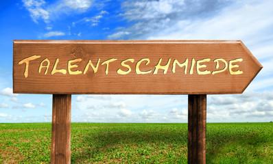 Strassenschild 30 - Talentschmiede