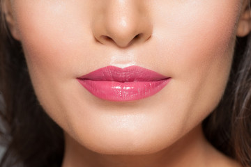 Closeup of beautiful lips