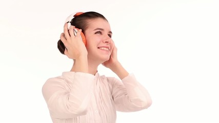 Young woman dj