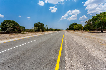 Endless road with blue sky