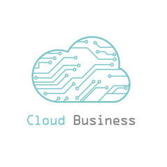Cloud business logo vector template