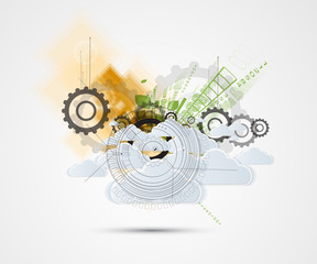 Abstract green eco technolgy business concept