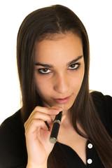 femme avec cigarette