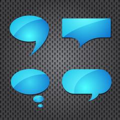 blue quote speech bubble