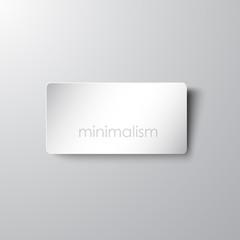 Minimalistic card