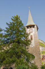 Zermatt, Dorf, Dorfkirche, Feriendorf, Alpen, Wallis, Schweiz