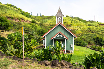 The green church in west Maui, Hawaii