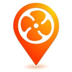 ventilation sur symbole localisation orange