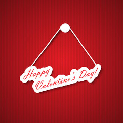 Valentines day hanging sign
