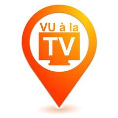 vu à la télévision sur symbole localisation orange