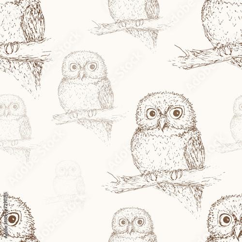 Owl seamless pattern © Vasileva