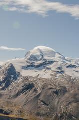 Zermatt, Dorf, Dufourspitze, Alpen, Walliser Berge, Schweiz