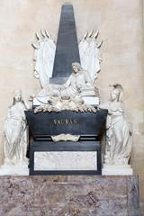 Paris -  Les Invalides. Marshal Vauban's tomb