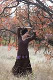 Young woman dancing  magic dance