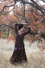 Young woman dancing  magic dance