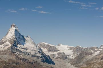 Zermatt, Bergdorf, Panorama, Schweizer Alpen, Furggletscher