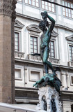 Statue of perseus with head in hand. Florence. Italy. poster