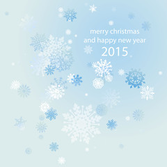 abstract winter background Snowflakes