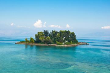Pontikonisi or Mouse island.  Corfu, Greece.