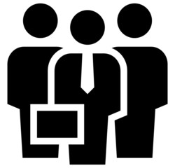 Businessman with security icon