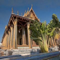Grand Palace and Wat Phra Kaeo in Bangkok - Thailand..