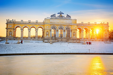 Gloriette at winter