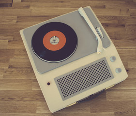 Retro portable record player