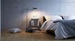 minimalistic concrete bedroom - schlichtes Schlafzimmer