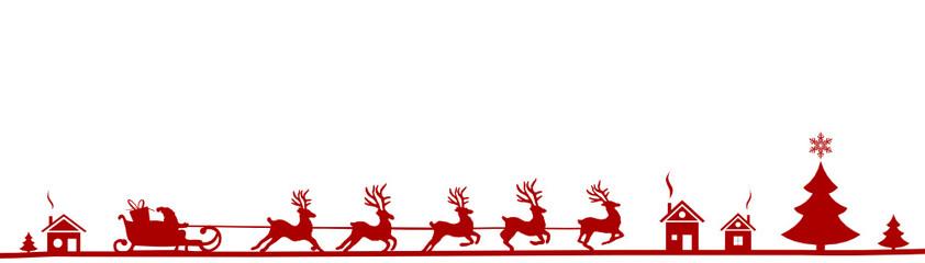 Weihnachten Silhouette Elche