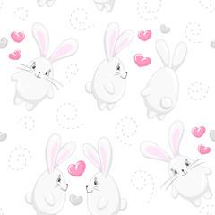 Cute hearts and rabbits 3