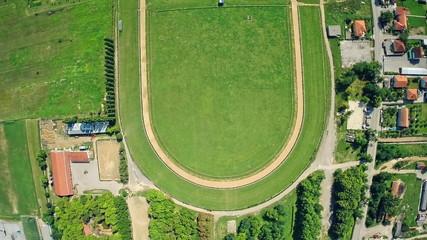 Hippodrome Sinj, aerial shot