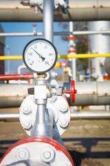 Pressure gauge measuring instrument close up