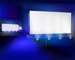 Large billboards. Vector illustration.
